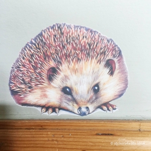 Hedgehog Fabric Wall Sticker