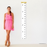 Tape Measure Height Chart Wall Sticker