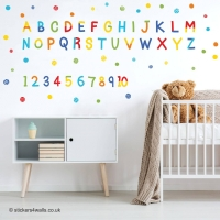 Alphabet and Number Wall Stickers Hello Friend S..