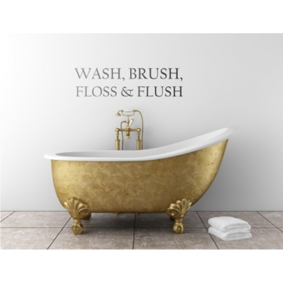 Wash, Brush, Floss and Flush