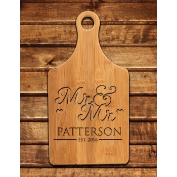 Engraved Mr & Mr Cutting Board