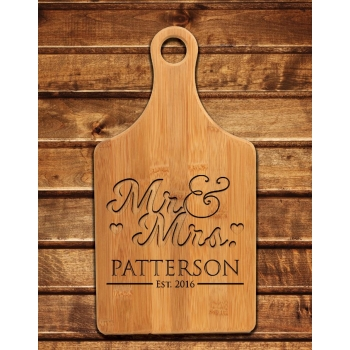Engraved Mr & Mrs Cutting Board