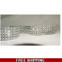 5 ROW DIAMONTIE EFFECT RIBBON 1 MTR