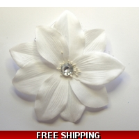 BRILLIANT WHITE FLOWER WITH DIAMO..