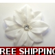 BRILLIANT WHITE FLOWER WITH DIAMONTIE FASCINATOR..