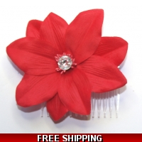 RED FLOWER WITH DIAMONTIE FASCINA..