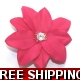 HOT PINK FLOWER WITH DIAMONTIE FASCINATOR MOUNTE..