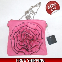 Pink purse evening bag