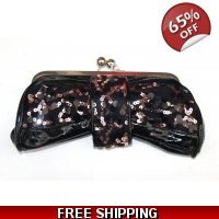 Black & Bronze clutch Bag