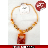 Orange Amber Necklace