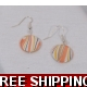 Orange Gold and Black LUSTRE DROP EARRINGS COPY