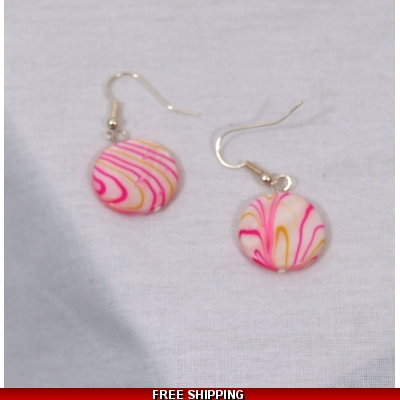 Pink and Gold LUSTRE DROP EARRINGS COPY COPY COPY