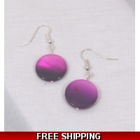 Two tone Purple LUSTRE DROP EARRI..