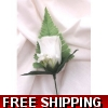 5 x WHITE ROSE BUTTON H..