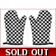 Black & White chequered Cotton Oven Gloves