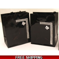Pack of 2 Black and Diamontie wit..