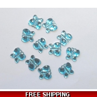 PKT OF 100 MINI SKY BLUE DIAMANTI..