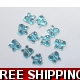 PKT OF 100 MINI SKY BLUE DIAMANTIE DECORATIVE BU..