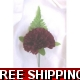 5 x SILK BURGUNDY CARNATION BUTTONHOLE 's, CORSA..