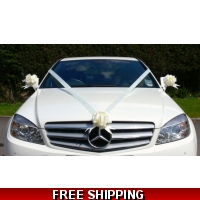 IVORY WEDDING CAR RIBBON KIT