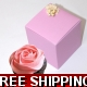 Pkt of 10 Pink and Gold Decorated Cup Cake Boxes