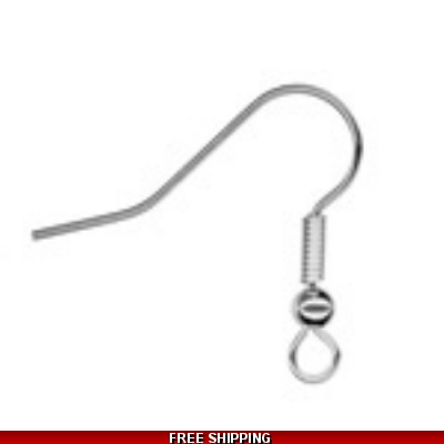 Pk of 6 Fish Hooks for Earrings: Silver Plated