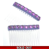 2 x PURPLE CRYSTAL DIAMONTIE FANC..