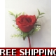 2 of Red Grand Prix  buttonholes corsage & FREE ..