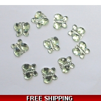 PKT OF 100 MINI GREEN DIAMANTIE D..