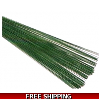 Green Florist Wire 20swg x 7.5