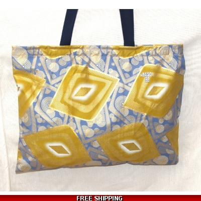 TEMPTATIONS ULTIMATE SHOPPING BEACH BAG BLUE GOLD style HIP HOP made in the UK