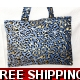 TEMPTATIONS ULTIMATE SHOPPING BEACH BAG BLUE LEO..