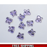 PKT OF 100 MINI LILAC PURPLE DIAM..