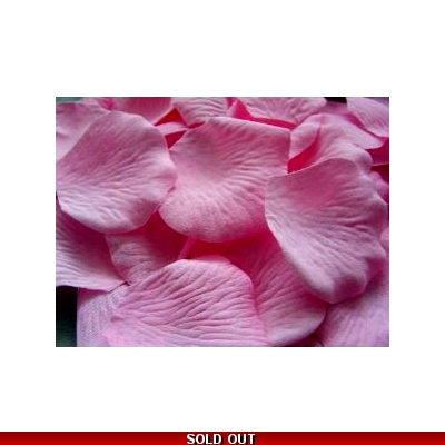 100 QUALITY CANDY PINK SILK ROSE PETALS CONFETTI/WEDDING