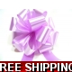 4 X LILAC LAVENDER 31mm SATIN PULL BOW