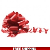 A pack of 4 x RED 30 mm SATIN PUL..