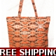 TEMPTATIONS ULTIMATE SHOPPING BEACH BAG ORANGE s..