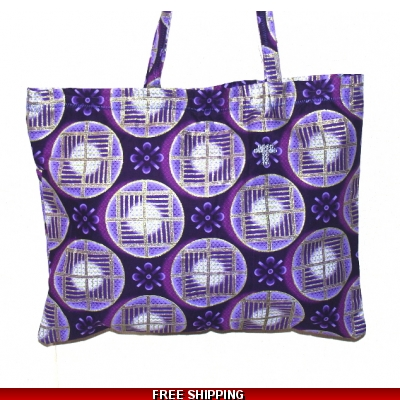 TEMPTATIONS ULTIMATE SHOPPING BEACH BAG PURPLE/GOLD Style SAMBA made in the UK