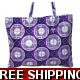 TEMPTATIONS ULTIMATE SHOPPING BEACH BAG PURPLE/G..