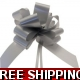 A pack of 4 x SILVER 30 mm SATIN PULL BOW