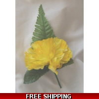 5 OFF YELLOW CARNATION BUTTON HOL..