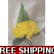 5 OFF YELLOW CARNATION BUTTON HOLE + LAPEL PIN