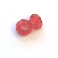 Pkt OF 2 PANDORA STYLE RED ACRYLI..