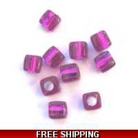 Pkt of 10 FLORESANT PURPLE SQUARE..