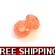 Pkt OF 2 PANDORA STYLE ORANGE ACRYLIC BEAD