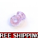 Pkt OF 2 PANDORA STYLE LILAC PURPLE ACRYLIC BEAD