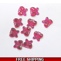 PKT OF 100 MINI HOT PINK DIAMANTI..