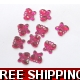 PKT OF 100 MINI HOT PINK DIAMANTIE DECORATIVE BU..