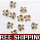 PKT OF 100 MINI GOLD DIAMANTIE DECORATIVE BUTTER..
