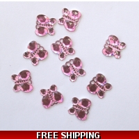 Pkt of 100 MINI BABY PINK DIAMANT..